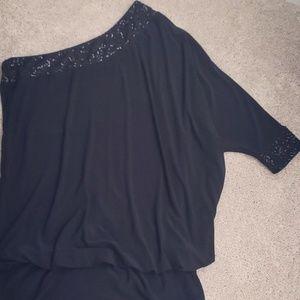 One shoulder little black dress